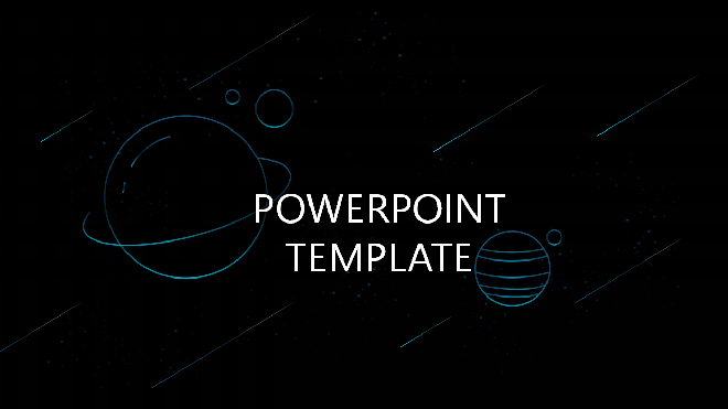 Space Planet Dynamic Meteor Ppt Template Best Powerpoint