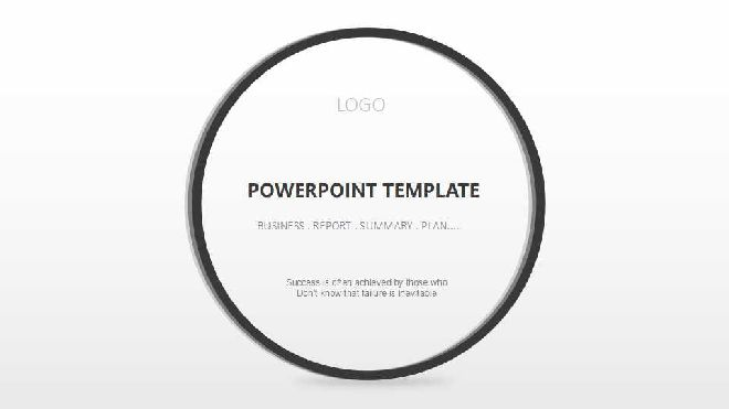 black and white simple ppt template