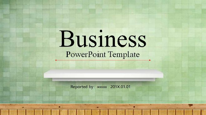Green fresh business PPT template-Free powerpoint templates download