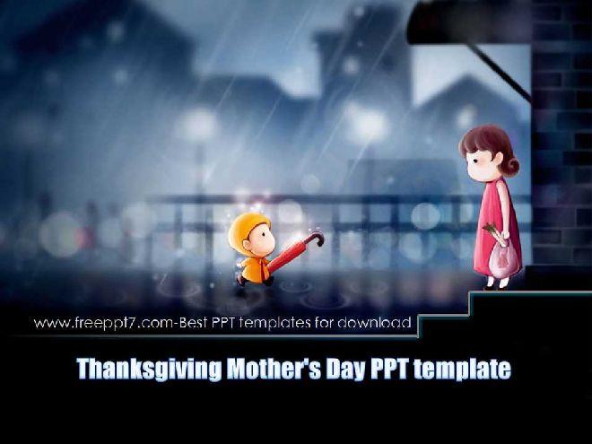Thanksgiving mothers day ppt templatefree powerpoint templates and thanksgiving mothers day ppt template toneelgroepblik Gallery