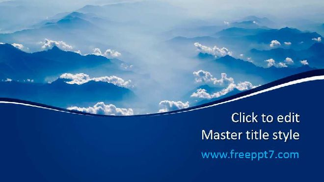 Blue Cloud Common Ppt Template Free Powerpoint Templates And