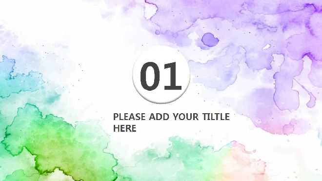 Watercolor Background Ppt Template Best Powerpoint Templates