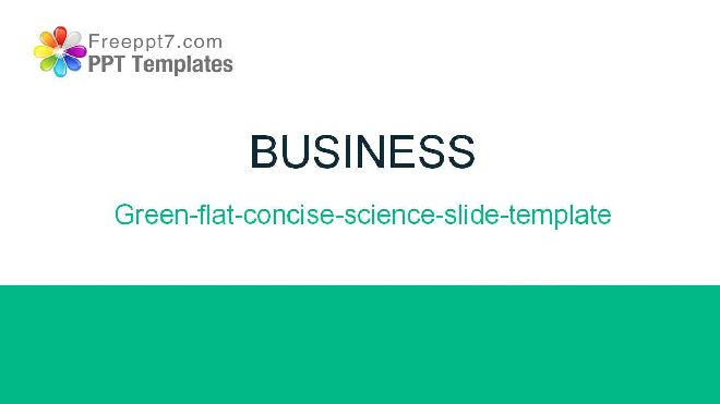 green flat concise science slide template free powerpoint templates