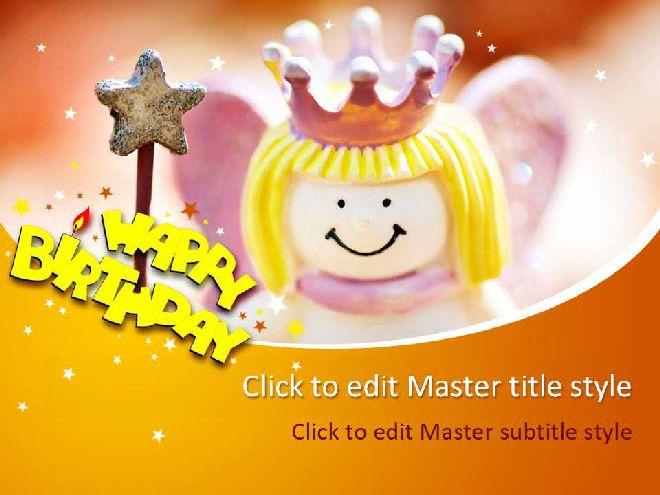 Cute Magic Little Princess Birthday Ppt Template Best