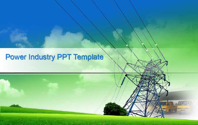 Ppt Template Free Download Electricity