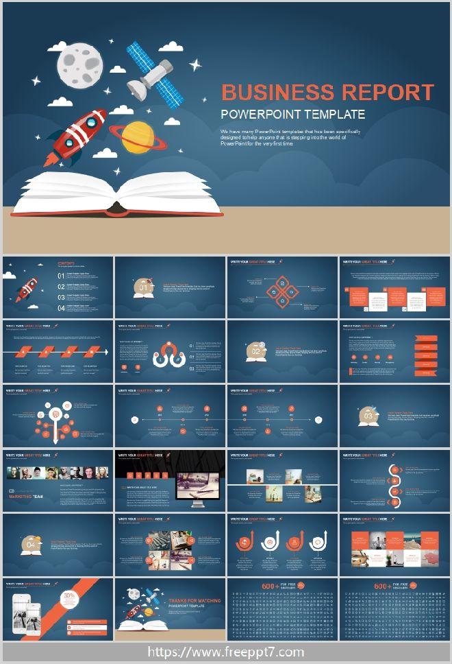 Flat Cartoon Powerpoint Template Best Powerpoint Templates