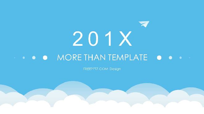 blue cartoon powerpoint template free powerpoint templates and