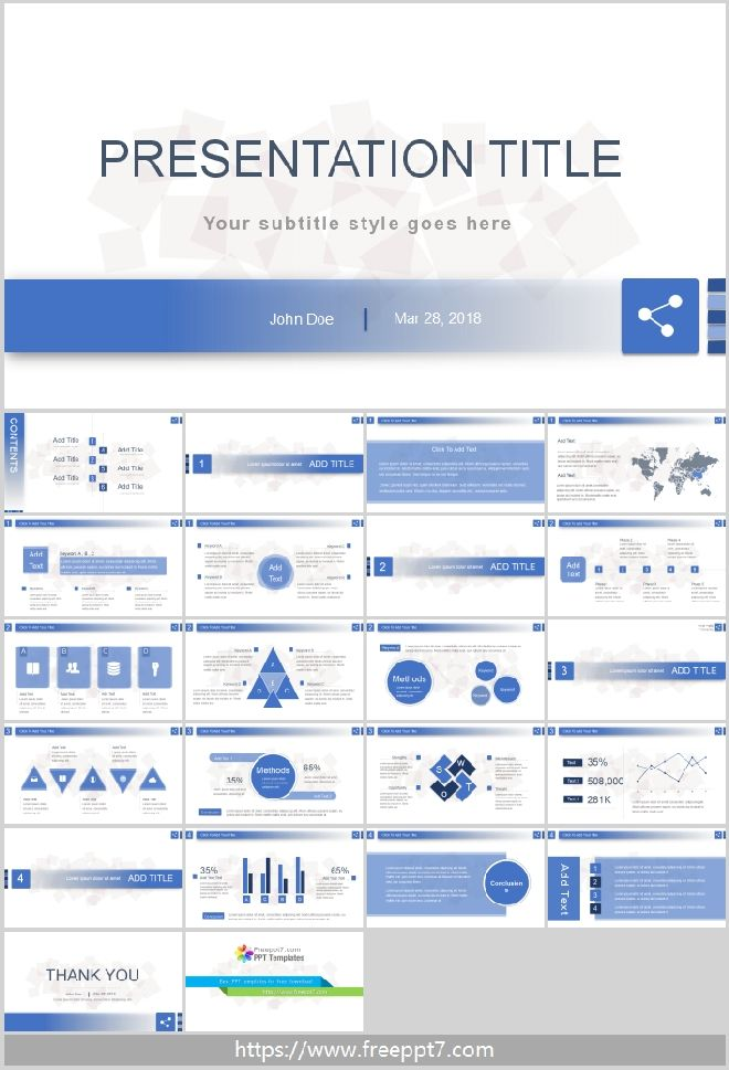 Simple blue powerpoint templatefree powerpoint templates and google simple blue powerpoint template toneelgroepblik Gallery