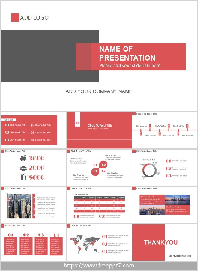 red and gray powerpoint template best powerpoint templates. Black Bedroom Furniture Sets. Home Design Ideas