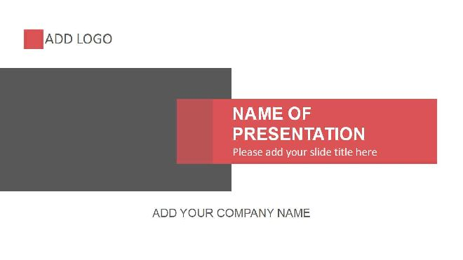 Red And Gray Powerpoint Template Best Powerpoint Templates