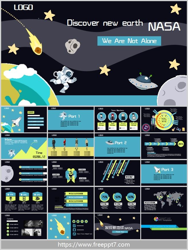 Flat Cartoon PowerPoint Template 2_Best PowerPoint templates