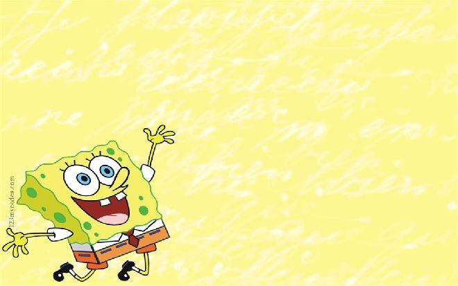 Color cute SpongeBob PPT background pictures_Best ...