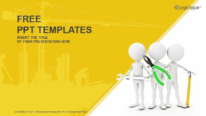 3d Team Workers Industry Powerpoint Templates Best