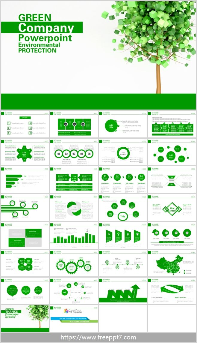 Green Environmental Theme Powerpoint Template Best Powerpoint Templates And Google Slides For Free Download