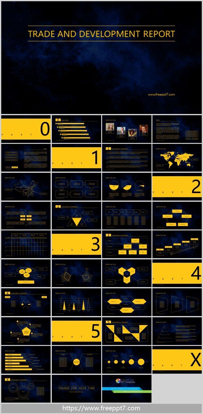 Dark Blue Minimalist Powerpoint Template Free Powerpoint