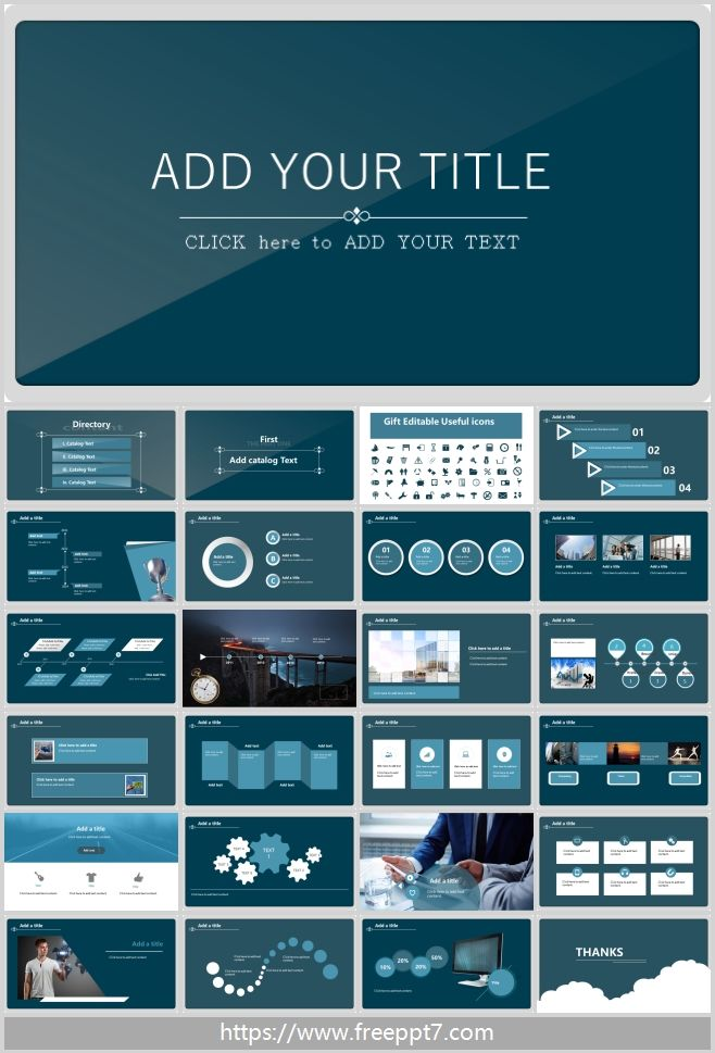 Blue Minimalist Powerpoint Template Best Powerpoint