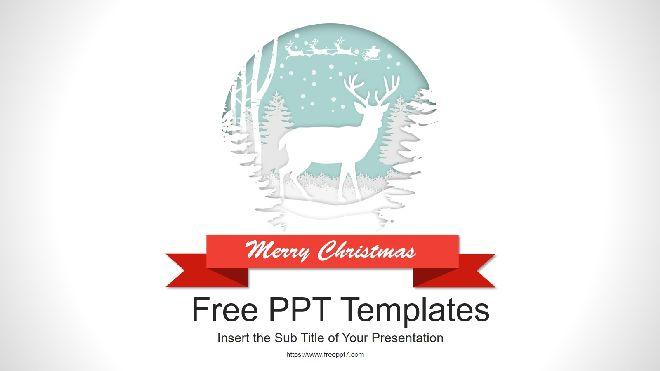 Merry Christmas Powerpoint Templates Widescreen Best