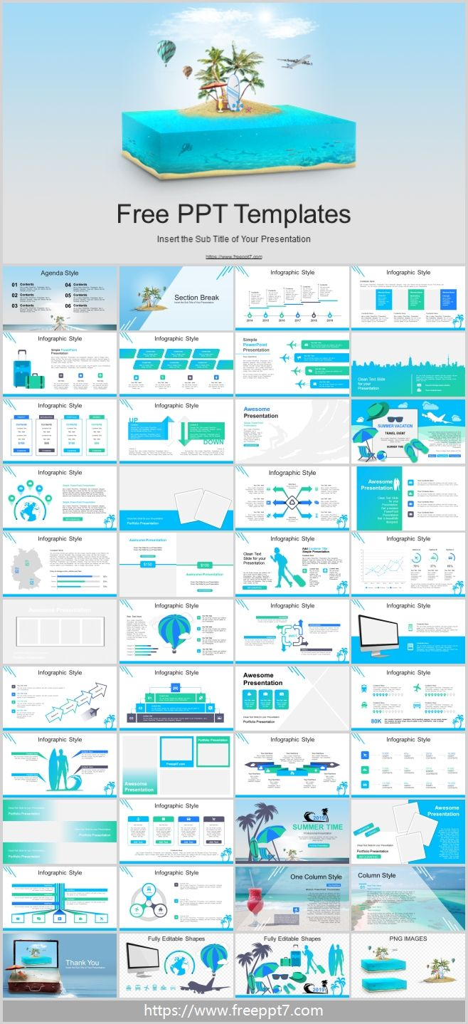 Travel Vacation Theme Powerpoint Templates Best Powerpoint