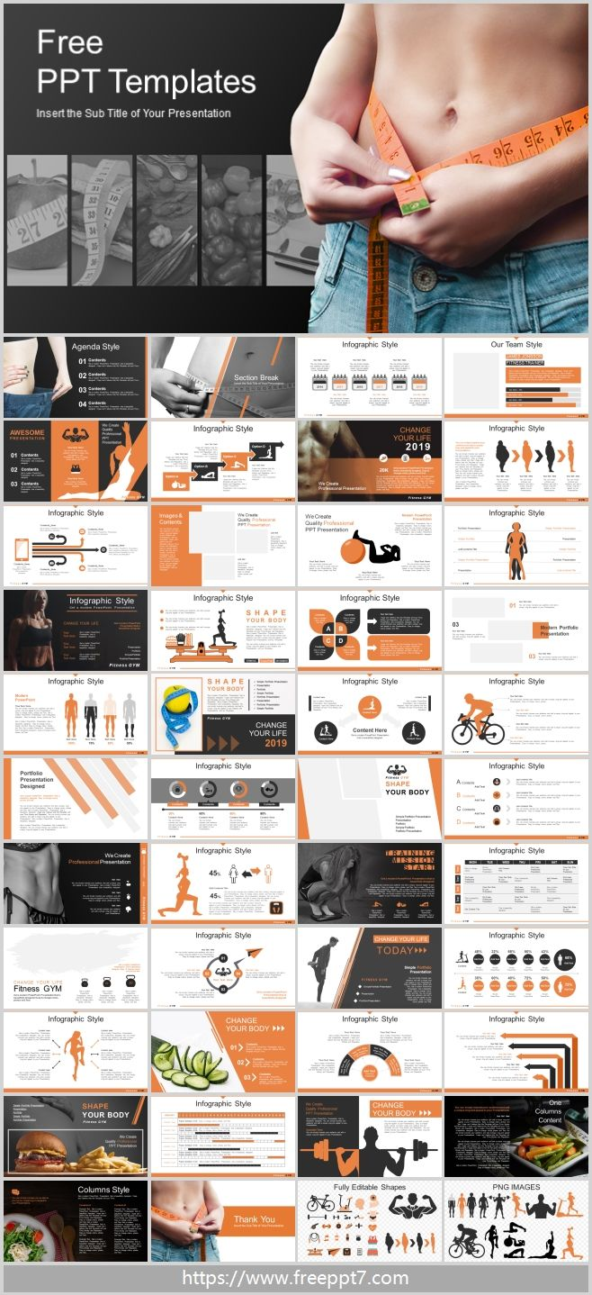 Powerpoint Template For Dietary Health Exercise Theme Best