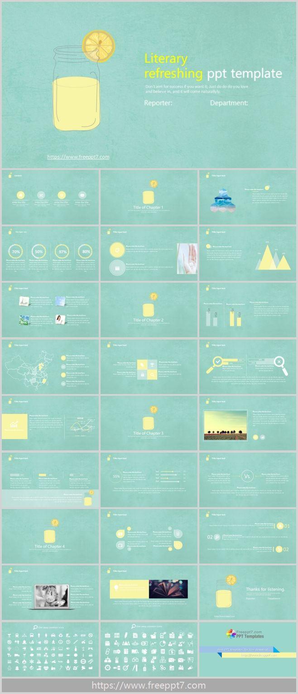Lemon Tea Powerpoint Template For Work Plan Best Powerpoint Templates And Google Slides For Free Download
