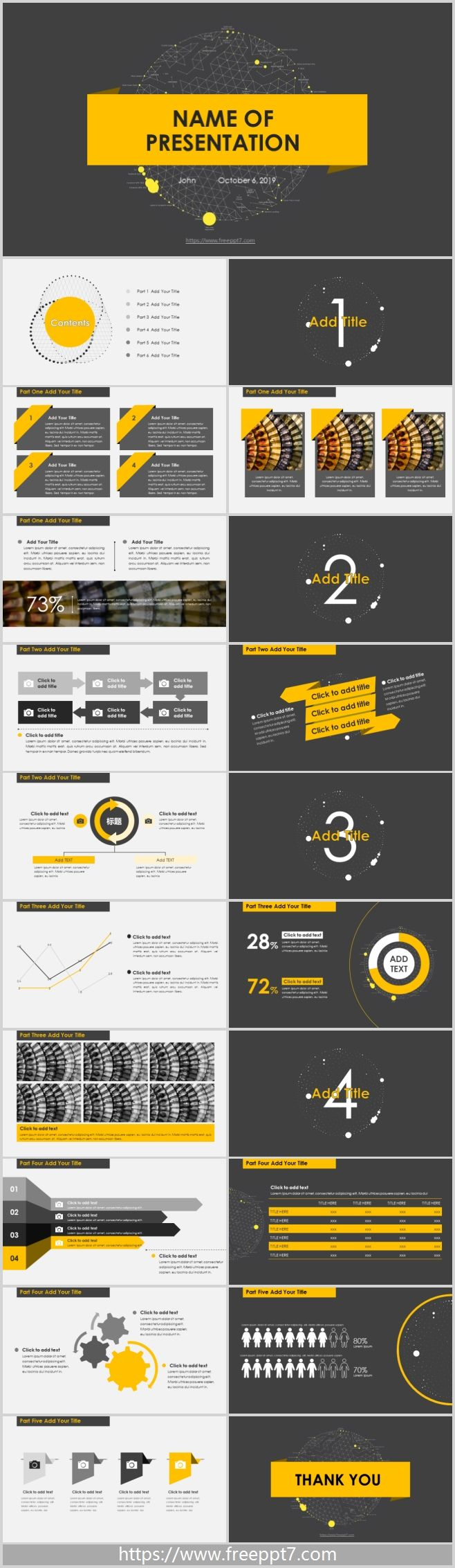 Black And Yellow Powerpoint Templates Best Powerpoint