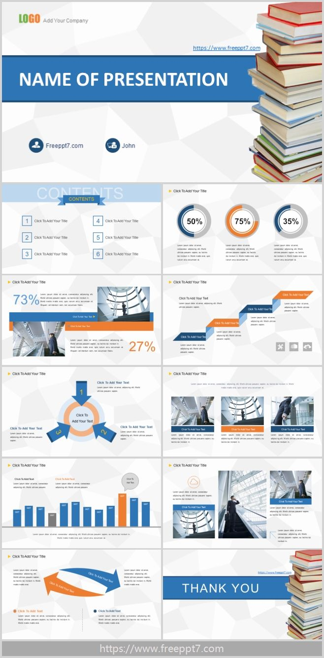 A Stack Of Books Background Powerpoint Template Best
