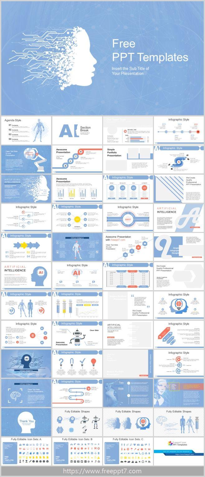 Blue Artificial Intelligence High Tech Powerpoint