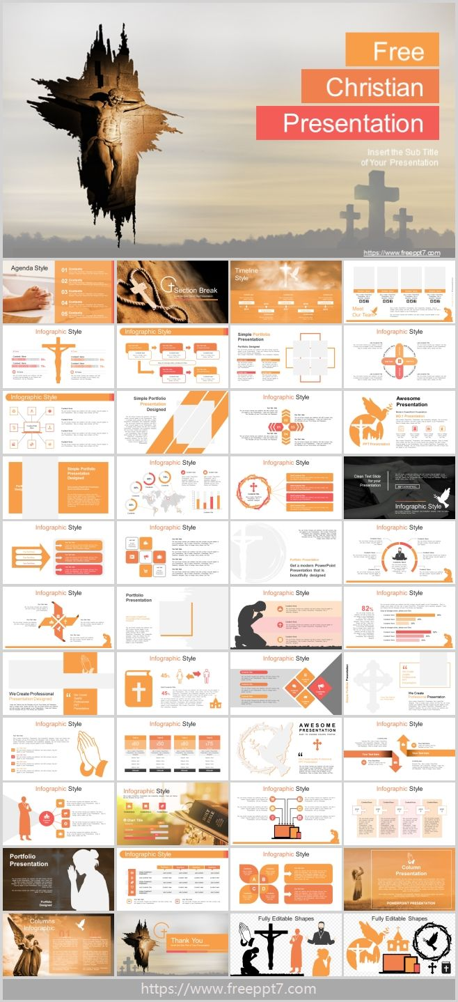 Powerpoint Template For The Christian Theme Of Jesus Best