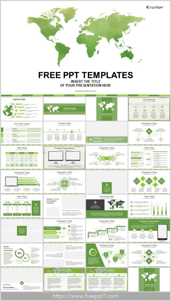 Powerpoint Templates For Global Business Theme Free