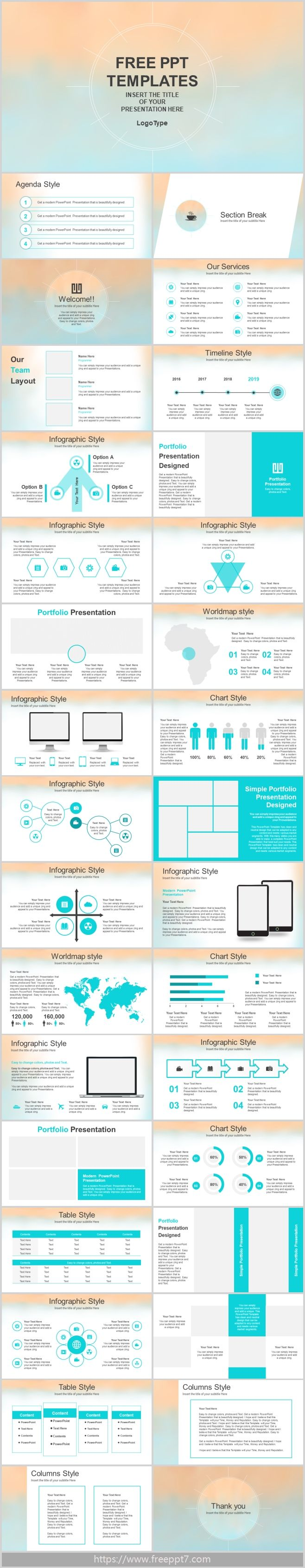 Pastel Watercolor Style Powerpoint Template Best Powerpoint