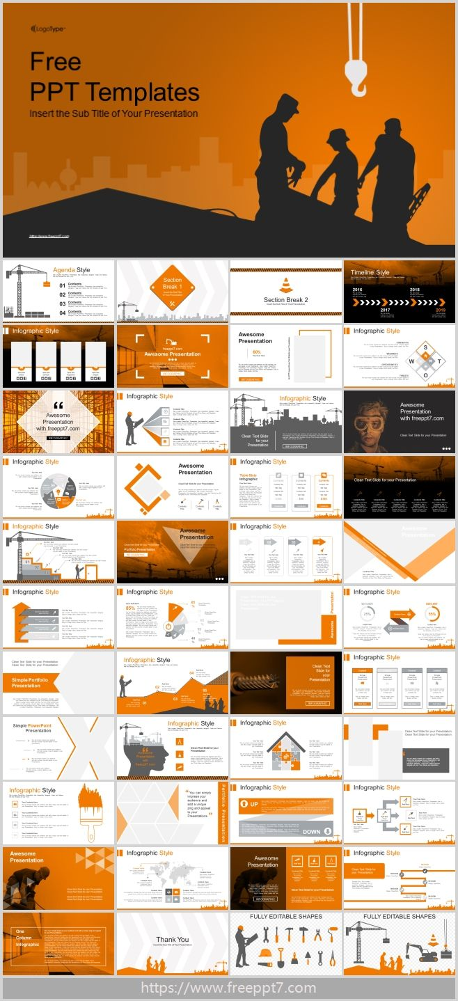 Powerpoint Templates For Construction Industry Best