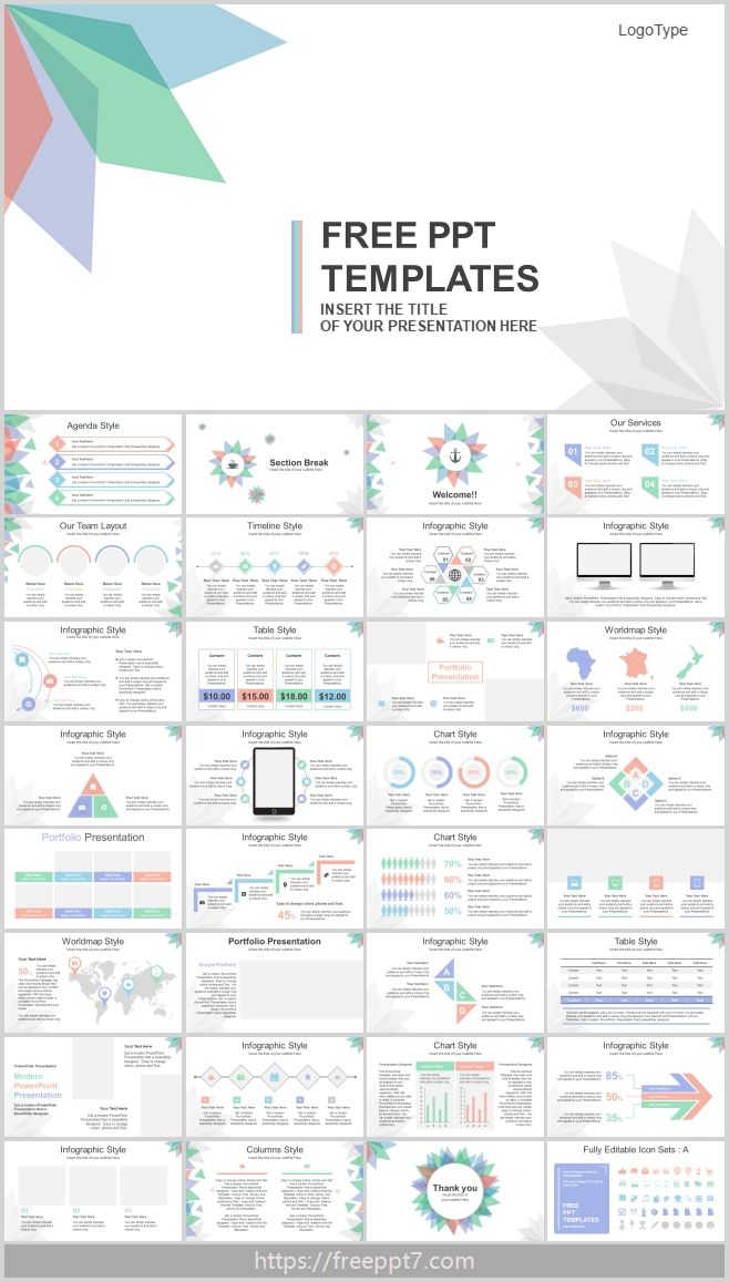 High Quality Abstract Leaves Powerpoint Templates Best