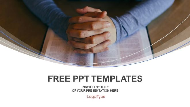Pray On The Bible Powerpoint Templates Best Powerpoint