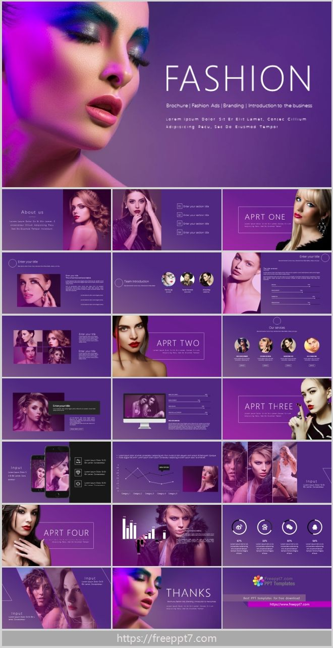 Fashion Gradient Style Business Powerpoint Templates Best