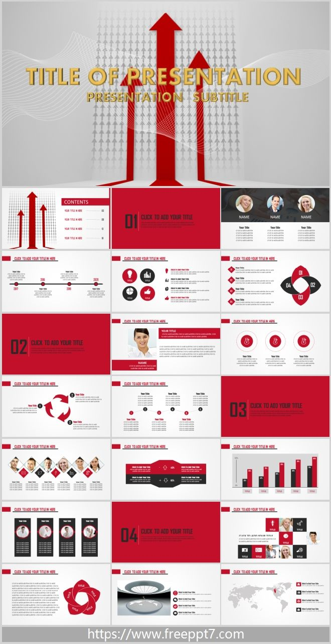 Flat Black And Red Business Powerpoint Templates Best