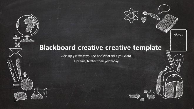 Blackboard style powerpoint tem