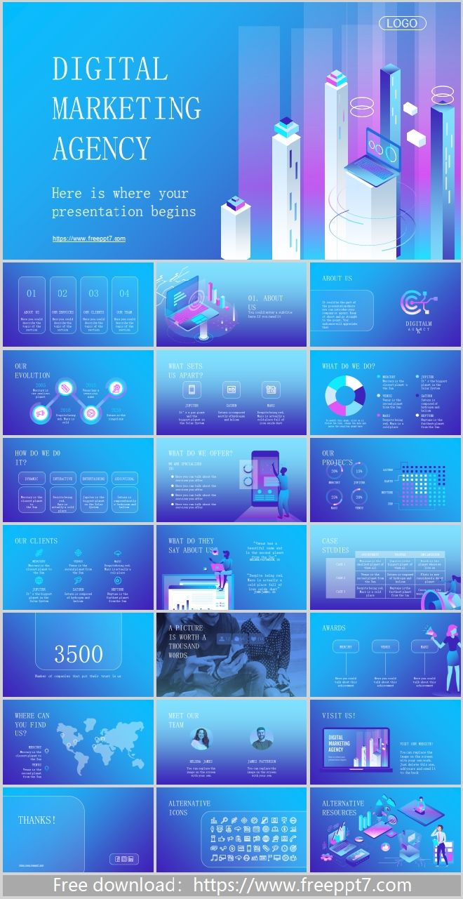Digital Marketing Powerpoint Templates Best Powerpoint Templates And Google Slides For Free Download