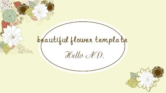 Literary beautiful flower PPT templat