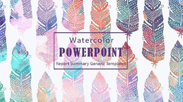 Watercolor Style Universal Ppt Template Best Powerpoint