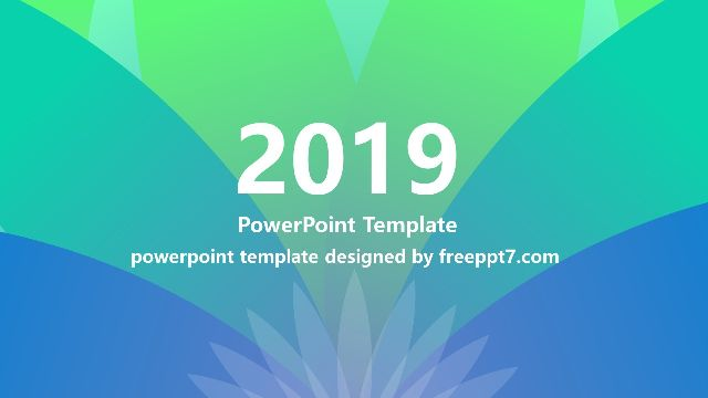 Simple Artistic Style PPT Template fo