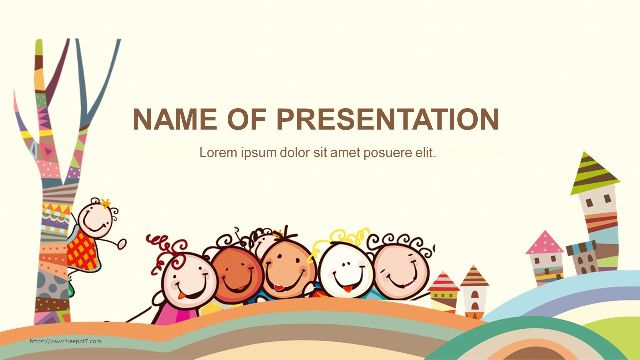 Happy Children Powerpoint Template For Education Best