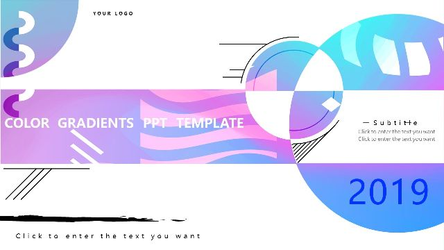 Gradient Style PowerPoint Template fo