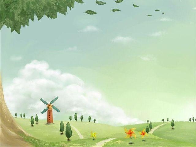 Cartoon rustic style background
