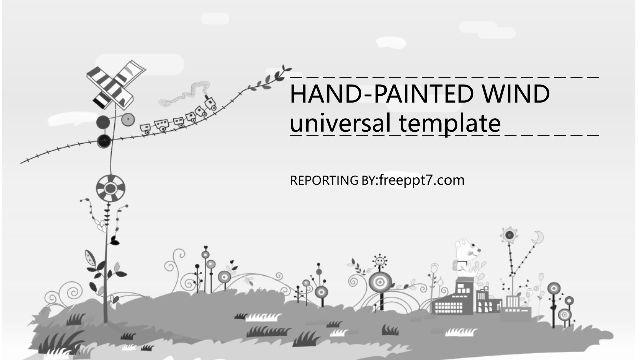 Hand drawn landscape PowerPoint Templ