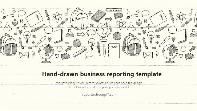 <b>Hand-drawn style business report PowerPoint template</b>