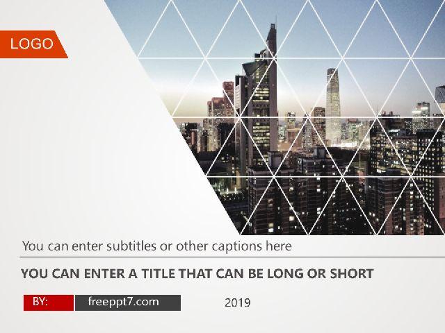 Modern City Business Report PowerPoint Templates