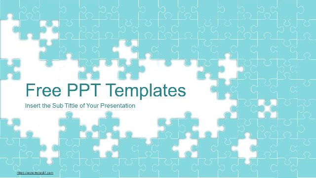 2020 Abstract Puzzle Business PowerPoint Template