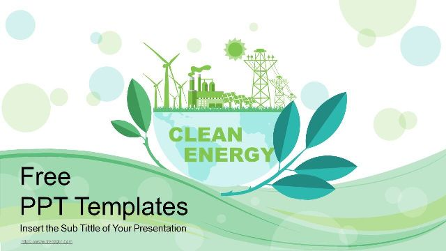 Green Clean Energy PowerPoint T
