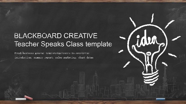 Blackboard Creative Hand Draw