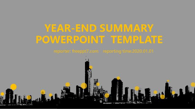 Yellow Year-end Report PowerPoint Tem